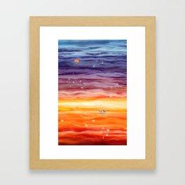 Journey to Nightfall Framed Art Print