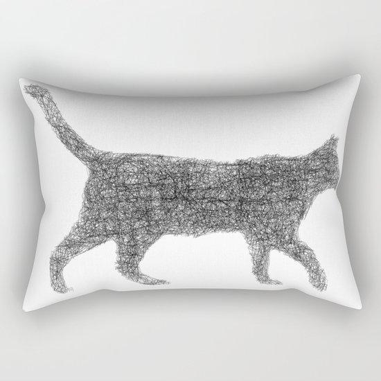 Dust kitten Rectangular Pillow