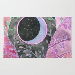 Moon in Purple Bramble Rug