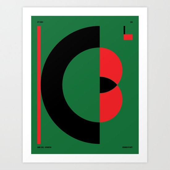 Kabul — City Series Art Print