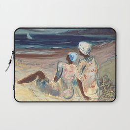 On the Beach by Victor Laredo Laptop Sleeve