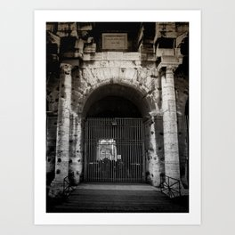 Gates at the Coliseum Art Print