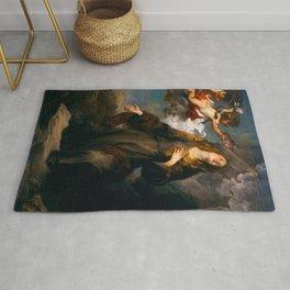"Sir Anthony van Dyck ""Saint Rosalie in glory"" Rug"