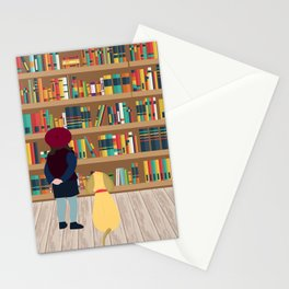 Take a book to kennel Stationery Cards