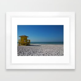 Siesta Key Station Framed Art Print