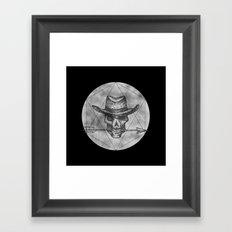 Dead Sheriff on dark Framed Art Print