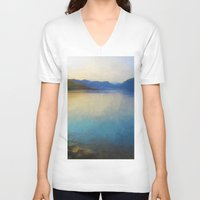 scotland V-neck T-shirts featuring Scotland Landscape by Hail Of Whales