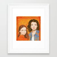 gilmore girls Framed Art Prints featuring Oh, To Be A Gilmore  by Sarah Mary Street