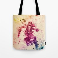 assassins creed Tote Bags featuring Assassins Creed III by Robert William Smith