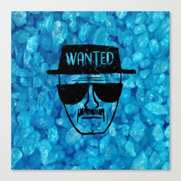Wanted White Canvas Print