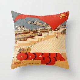 Vintage poster - Odessa Throw Pillow