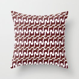 red Dala horse design Throw Pillow