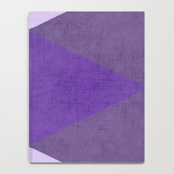 purple triangles Notebook