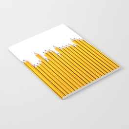 Pencil row / 3D render of very long pencils Notebook