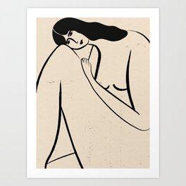 _ stuck in a box Art Print