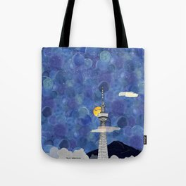 Starry Night over Skytree Tokyo Tote Bag