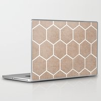hexagon Laptop & iPad Skins featuring natural hexagon by her art