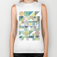 nordic Biker Tanks featuring Nordic Combination 21 by Mareike Böhmer