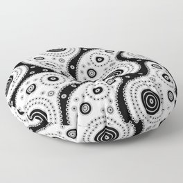 Black And White Paisley Floor Pillow