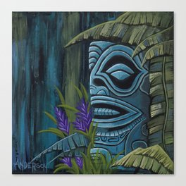 Blue Tiki Canvas Print