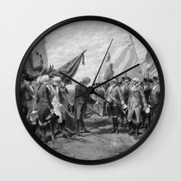 Surrender Of Cornwallis At Yorktown Wall Clock