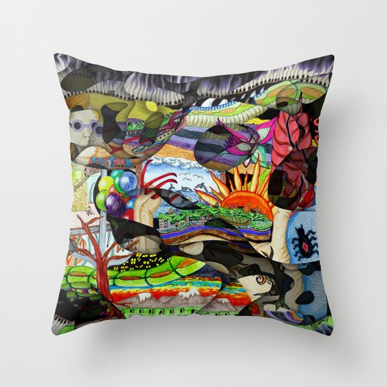 Little memories shift and change never staying quite the same Throw Pillow