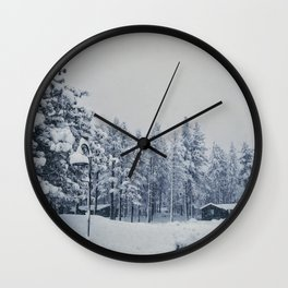 Mammoth Lakes: Center Weighted Blue Wall Clock