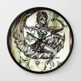 Champagne Of The Dead Wall Clock