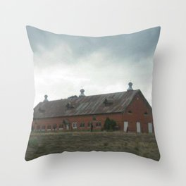 Storm_Across_The_Highway Throw Pillow