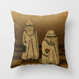 Playing for Peace Throw Pillow