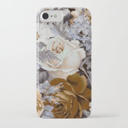 wintery floral iPhone Case