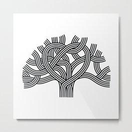 Oakland Love Tree (Black) Metal Print