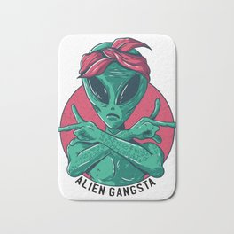 Gangsta Alien Bath Mat