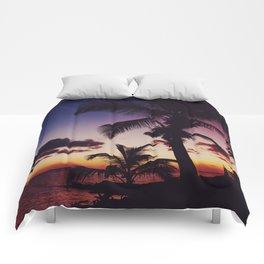 Summer Night Sunset Comforters