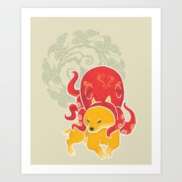Octopus Funny Dog Costume - Sea Collection Art Print