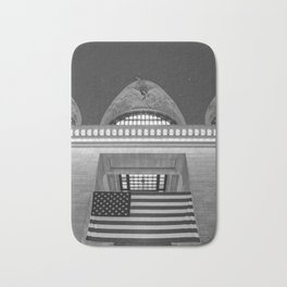 American Flag in Grand Central Station, New York Bath Mat