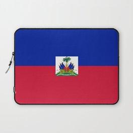 flag of haïti Laptop Sleeve