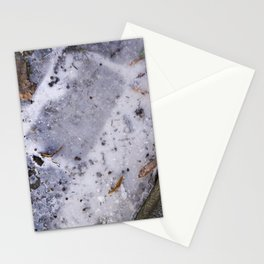Ice on Road Stationery Cards