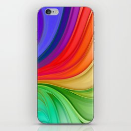Abstract Rainbow Background iPhone Skin