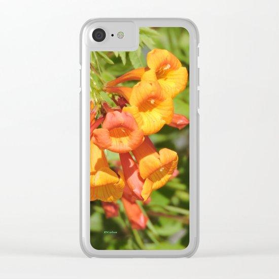Natural Brass Blowing in the Breeze Clear iPhone Case