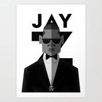 jay z Art Prints featuring JAY-Z by olivier silven