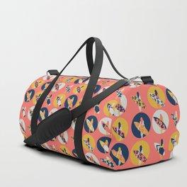 Surfer Girl Pattern Coral Duffle Bag