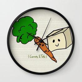 {Carrots & Tofu} Wall Clock