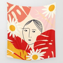Flower girl Wall Tapestry