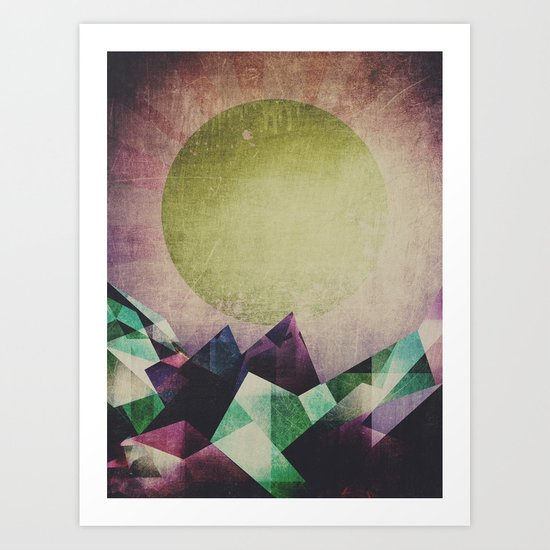 Top of the mountain Art Print