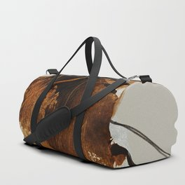 abstract mountains, rustic orange sunrise Duffle Bag