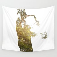 saxophone Wall Tapestries featuring saxo by novelisa