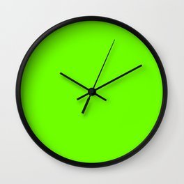 Bright Fluorescent  Green Neon Wall Clock