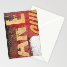 Yellow letters on red Stationery Cards