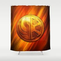 daenerys Shower Curtains featuring IMPERIAL LOGO by BeautyArtGalery